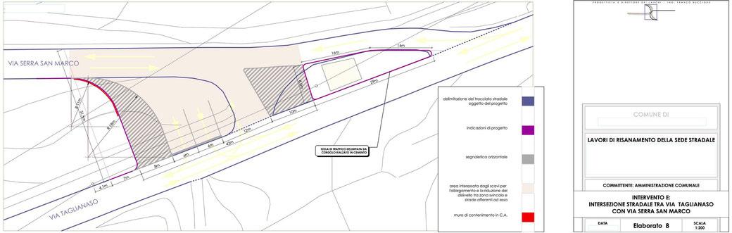 Stralcio progetto infrastrutturale manutenzione stradale  - ELAB 8 intervento E
