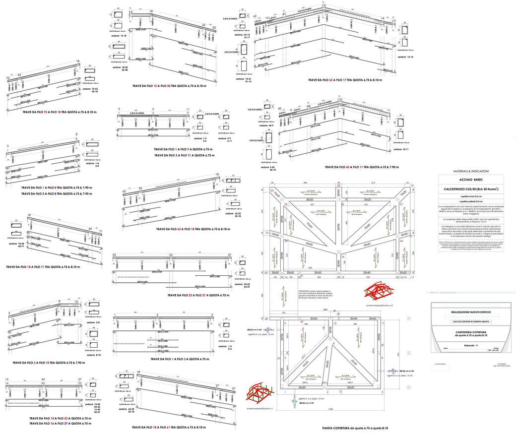 Esempio di progettazione strutturale - Stralcio progetto strutture di un edificio - Carpenteria copertura