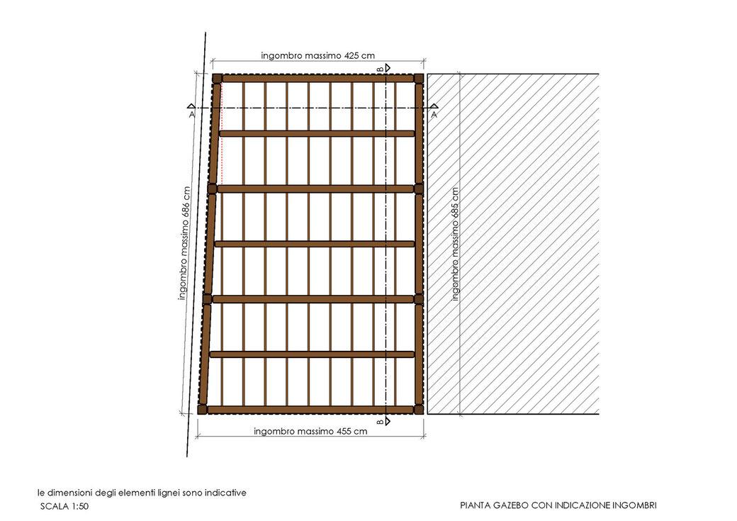 Esempio di progettazione strutturale - Indicazioni progettuali per realizzazione gazebo - Pianta