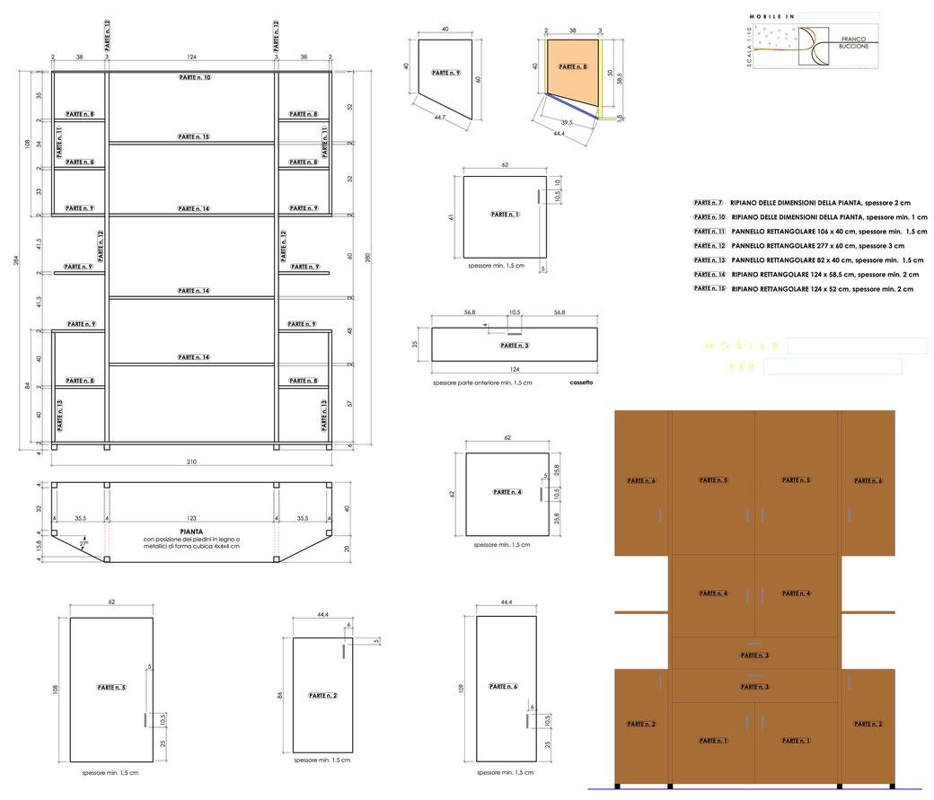 Esempio di progettazione strutturale - Progetto mobile dispensa