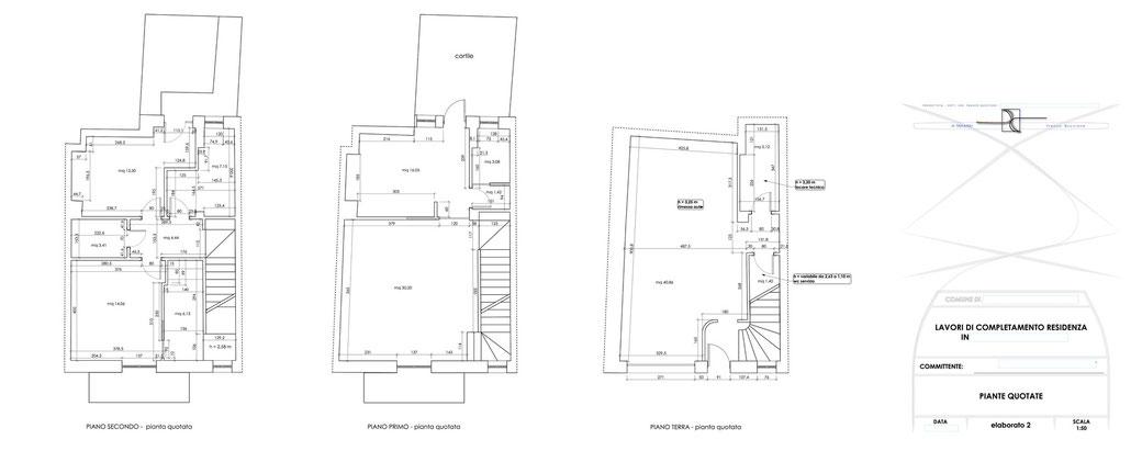 Esempio di progettazione architettonica - Stralcio progetto di ristrutturazione edilizia immobile  - elaborato 2