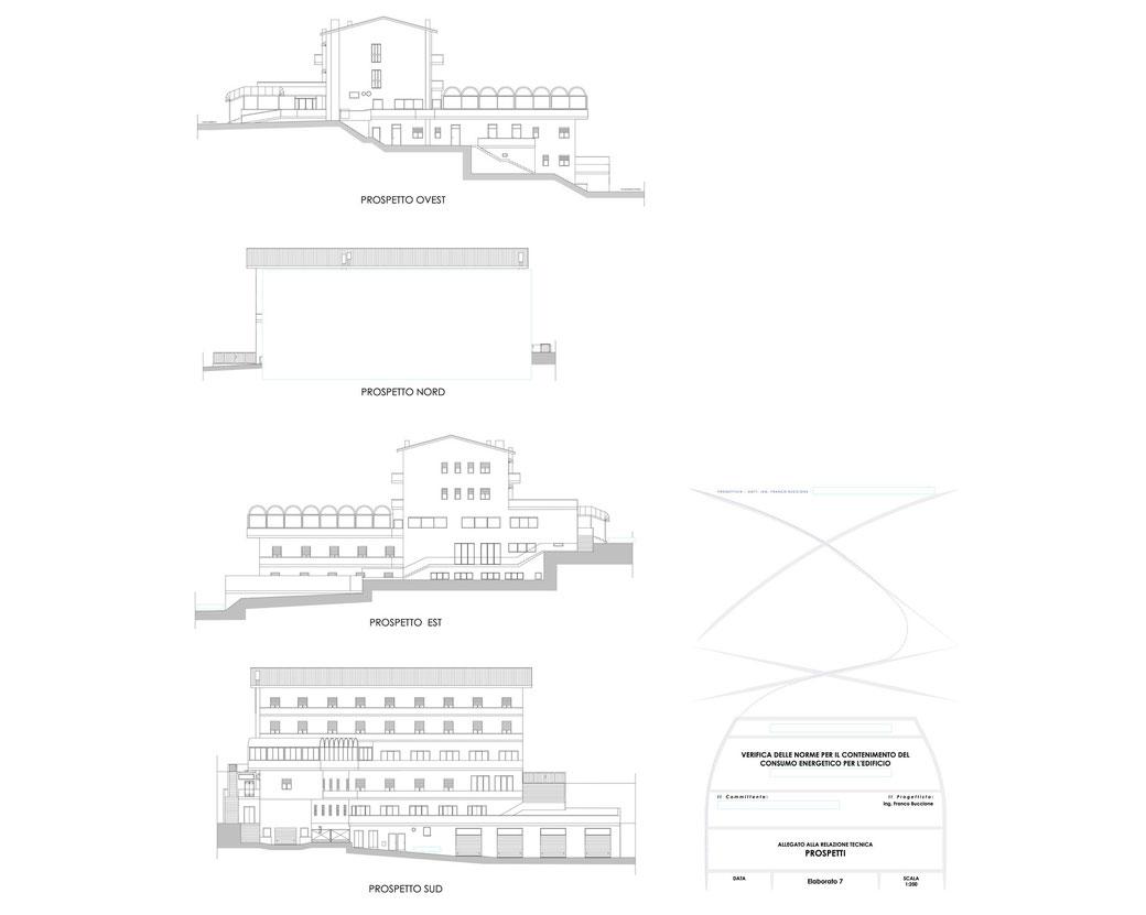 Esempio di progettazione strutturale - Stralcio elaborati di una relazione sul contenimento energetico albergo (elab 7)