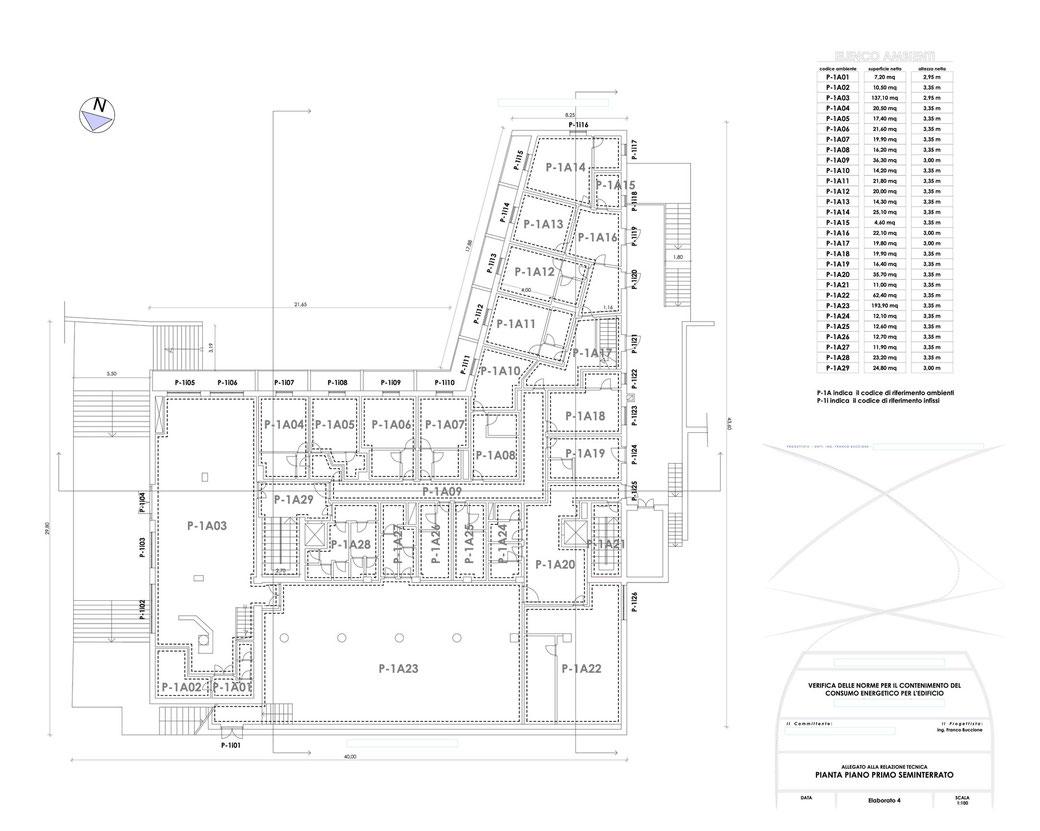 Esempio di progettazione strutturale - Stralcio elaborati di una relazione sul contenimento energetico albergo (elab 4)