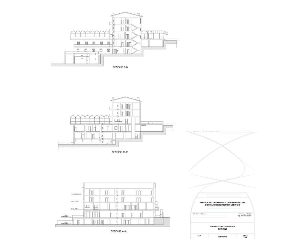 Esempio di progettazione strutturale - Stralcio elaborati di una relazione sul contenimento energetico albergo (elab 6)