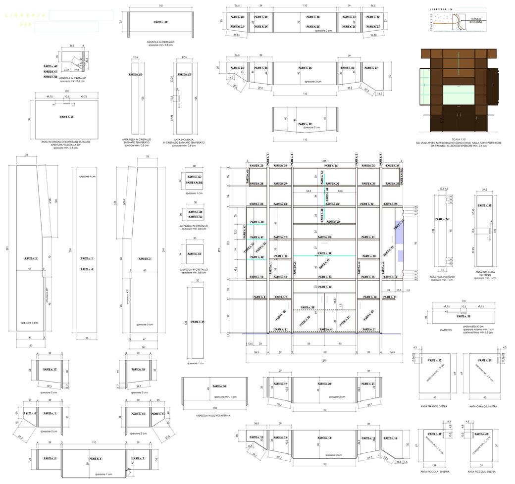 Progetto mobile soggiorno - STP