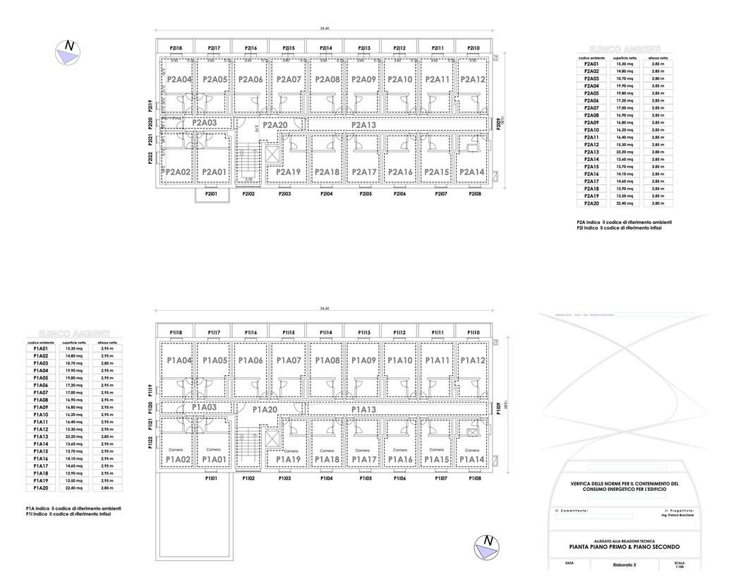 Esempio di progettazione strutturale - Stralcio elaborati di una relazione sul contenimento energetico albergo (elab 3)