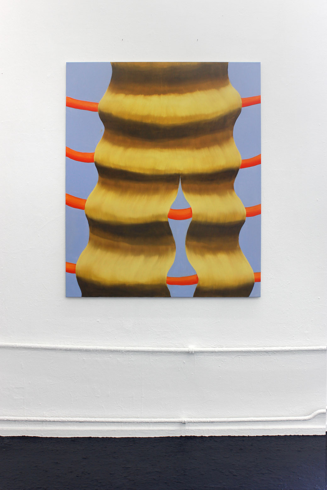 "Pia Krajewski, ""Matilda's Dream"" Graduation Show 2018, Kunstakademie Düsseldorf, oT (Haare) 180x105cm, Artuner"