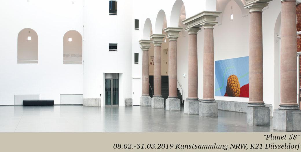 Artist Pia Krajewski, oT (Mais), 2019, oil on canvas, 230x450, planet 58, K21, Ständehaus, Kunstsammlung NRW Düsseldorf, groupshow Kunstakademie Düsseldorf