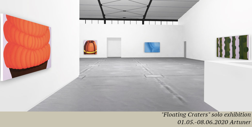 "Pia Krajewski, ""Floating Craters, Solo Exhibition with ARTUNER, 2020"