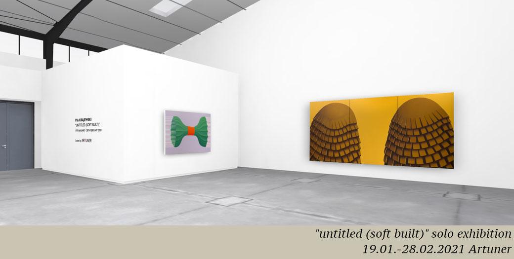 "Pia Krajewski, ""untitled (soft built)"" Solo Exhibition with ARTUNER, 2021"