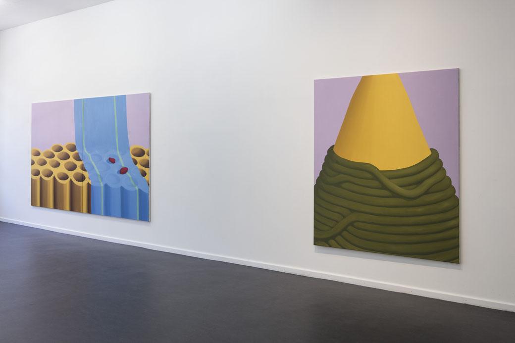 "Pia Krajewski, ""Come Close and Step Back"" curated by Jurriaan Benschop, Künstlerhaus Bethanien 2019, Artuner, Foto: David Brandt"