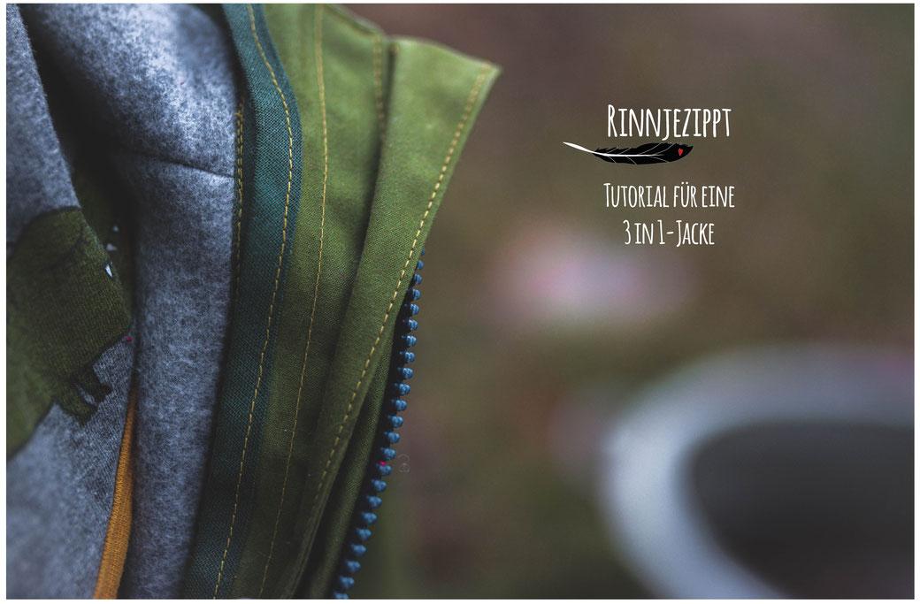 Zip-In-Jacke Zip-In-Prinzip Rinnjezippt