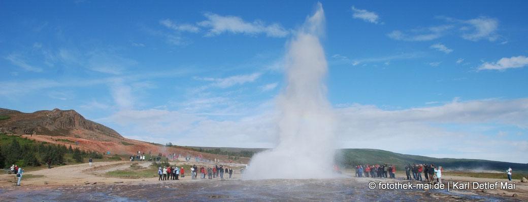 So muss man sich die Geburt eines Aphorimus vorstellen, Foto: Island, 2012