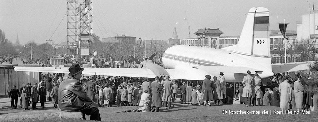 Damals und heute - Vergleichende Fotografie, Foto: Leipzig, damalige Technische Messe, 1955
