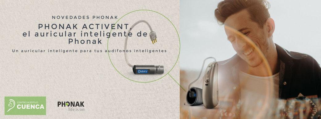 Phonak Paradise y Phonak Activent, el auricular inteligente de Phonak para tus audífonos Phonak Paradise. Centro Auditivo Cuenca.