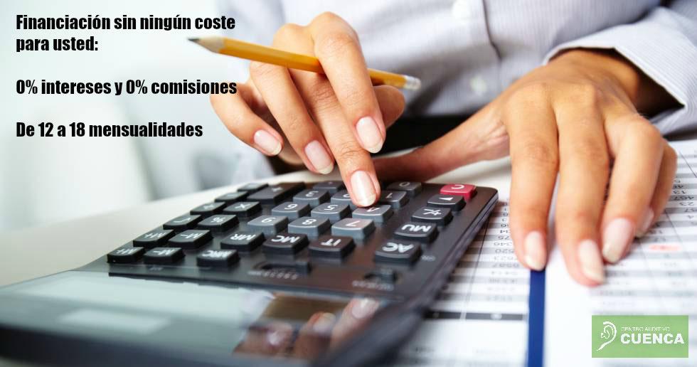 El Centro Auditivo Cuenca le ofrece financiar sus audífonos sin ningún coste para usted.