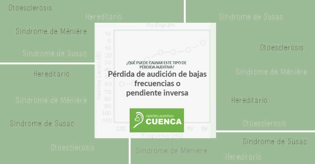 Causantes de la pérdida auditiva de bajas frecuencias o pendiente inversa. Centro Auditivo Cuenca.