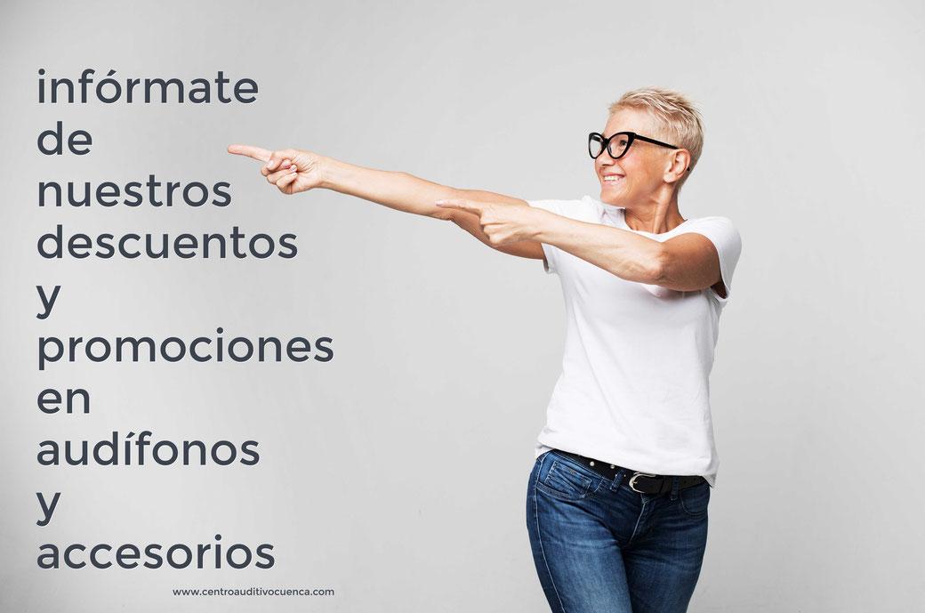 Centro Auditivo Cuenca le ofrece desde un 20% de descuento en sus audífonos y 10% de descuento en accesorios. Además de interesantes promociones puntuales. ¡No las deje pasar!