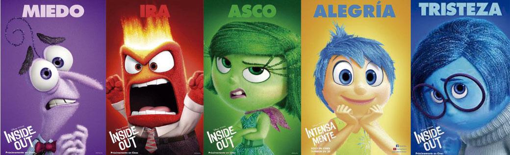 Inside Out, película producida por Pixar y distribuída por Walt Disney que nos  sumerge en la mente de una niña con todo un mundo de emociones.