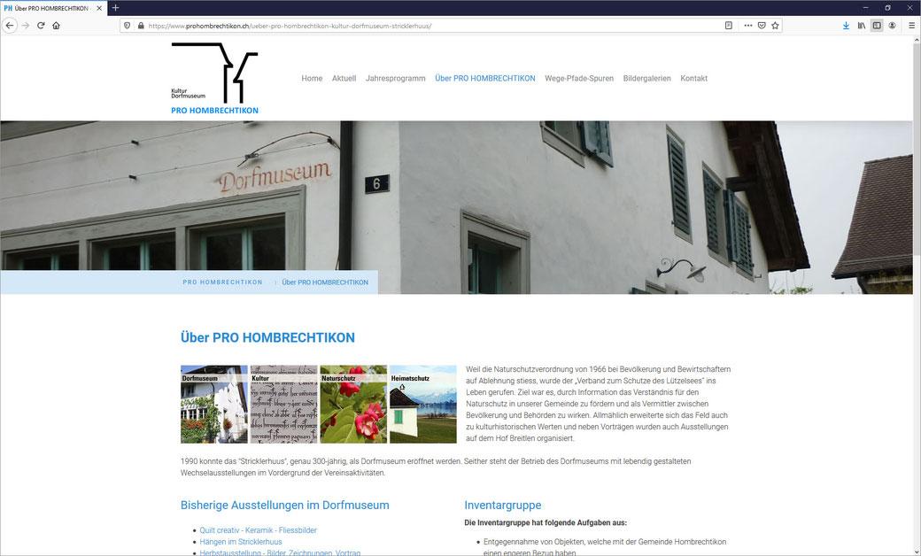 """PRO HOMBRECHTIKON - Kultur - Dorfmuseum """"Stricklerhuus"""""""