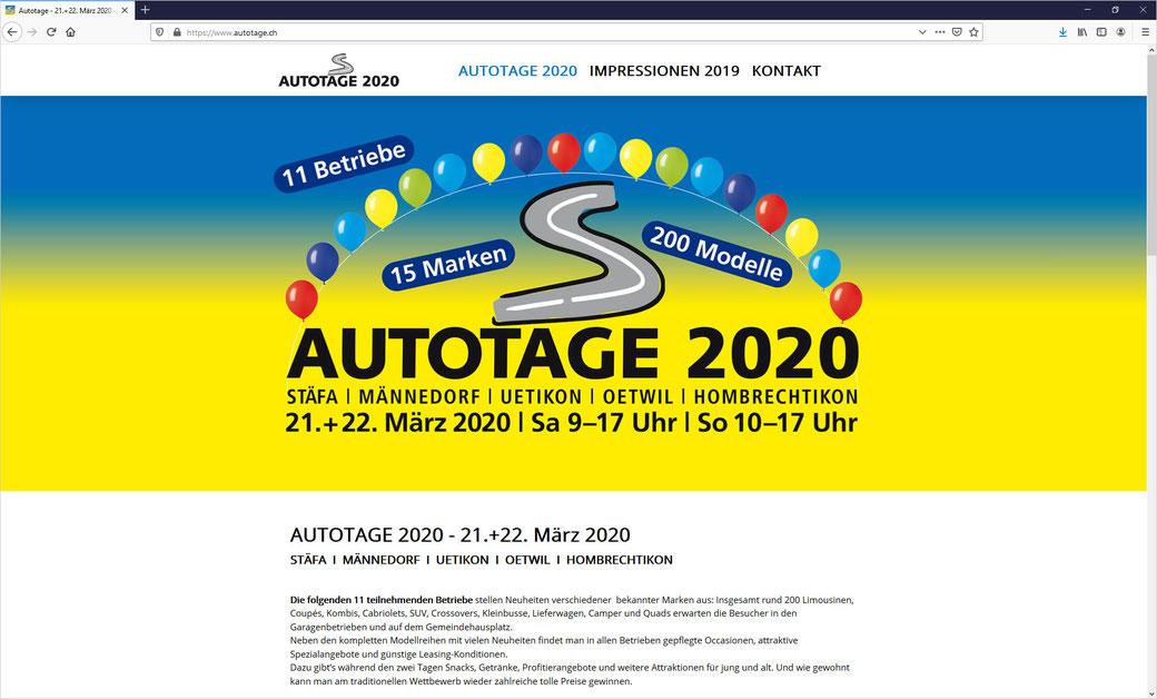 Stäfner Autotage am 23. und 24. März 2019