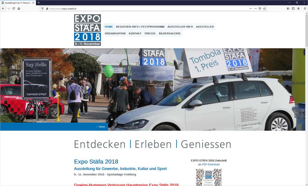 EXPO STÄFA 2018 vom 8. bis 11. November 2018