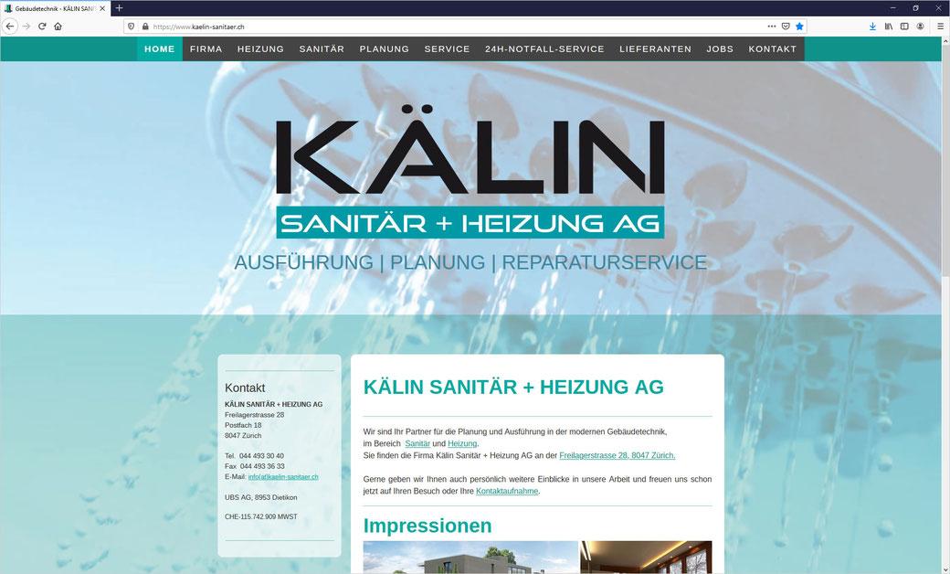 KÄLIN SANITÄR + HEIZUNG AG