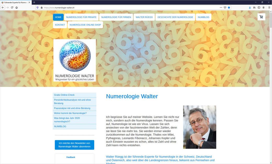 Numerologie Walter ist der führende Experte für Numerologie in der Schweiz und weit über die Landesgrenzen hinaus, bekannt aus Fernsehen und Medien.