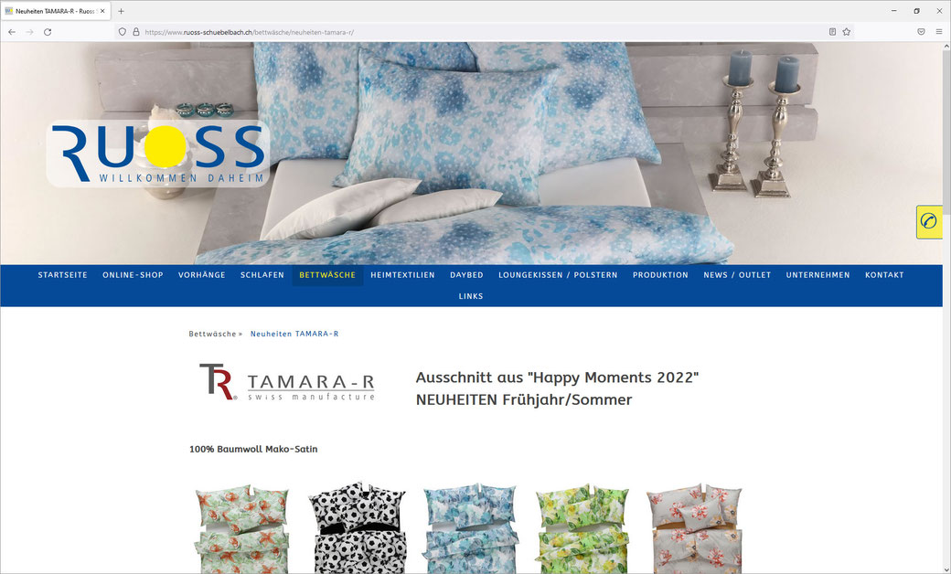 ROBERT RUOSS & CO. AG - WOHNTEXTIL- UND BETTWARENCENTER