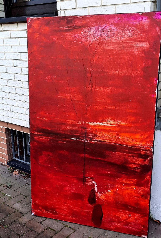 gemälde in rot