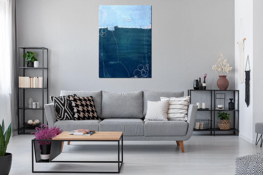 Raum - blaues Bild