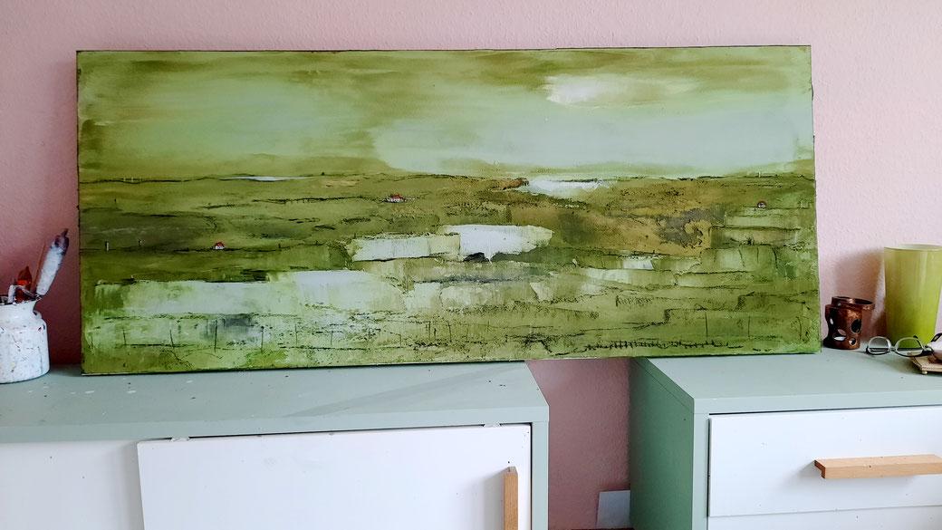 grünes Bild 140 x 60 cm