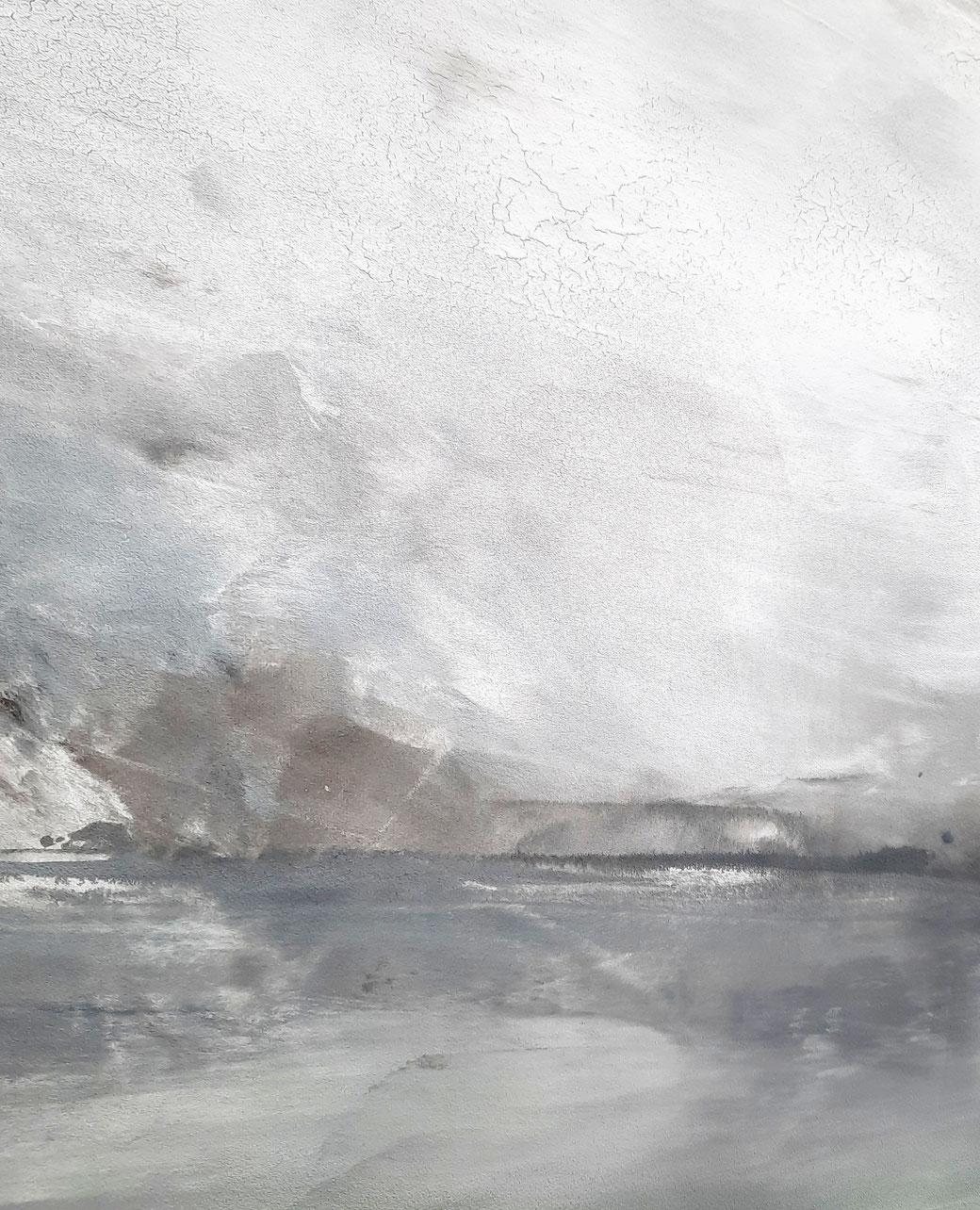 detail abstraktes Landschaftsbild 180 x 80 cm