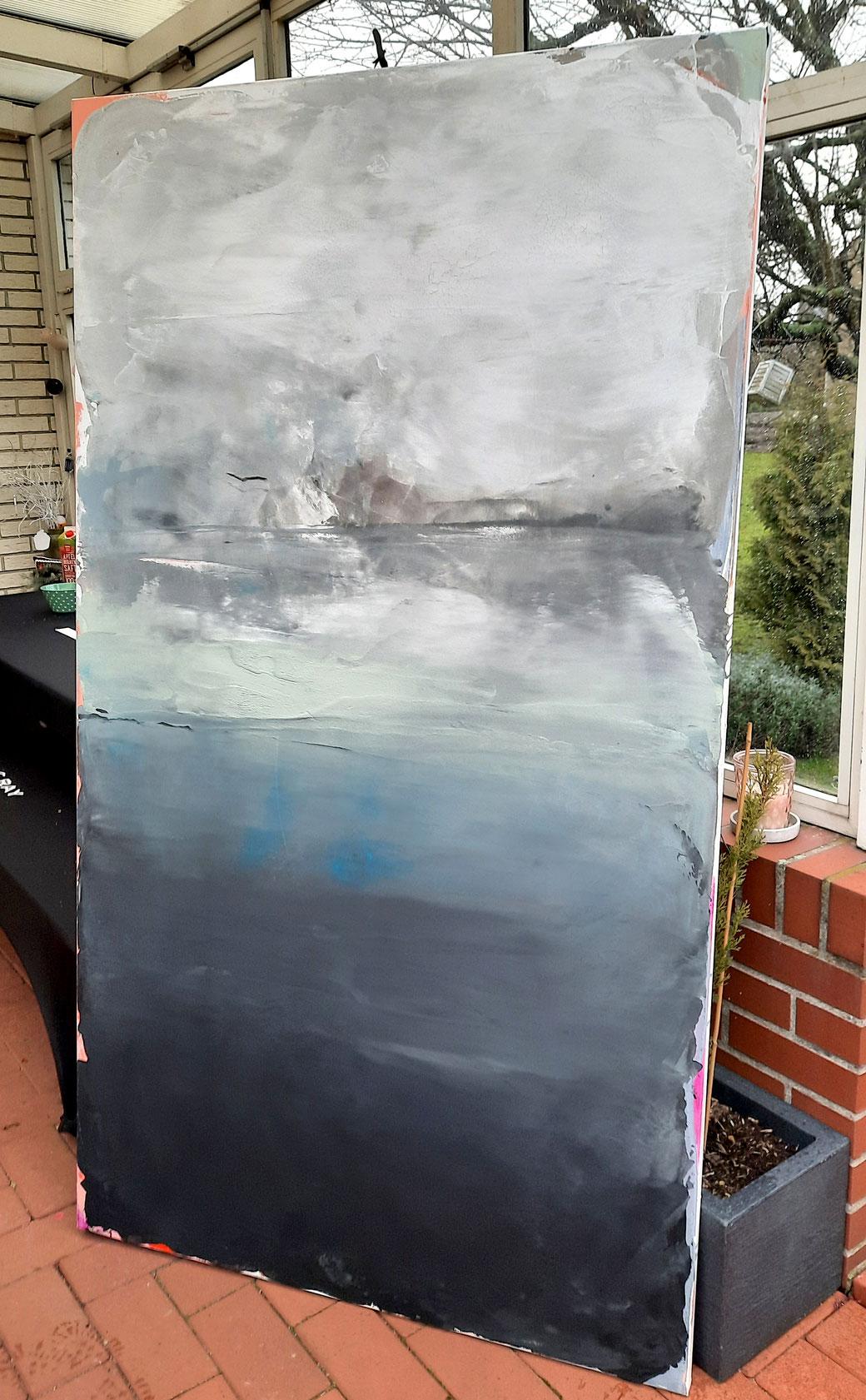 Acrylmalerei, Sand