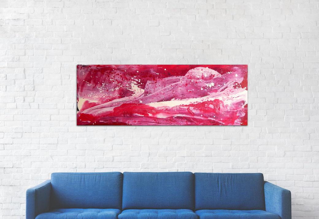 rotes Bild - 150 x 50 cm