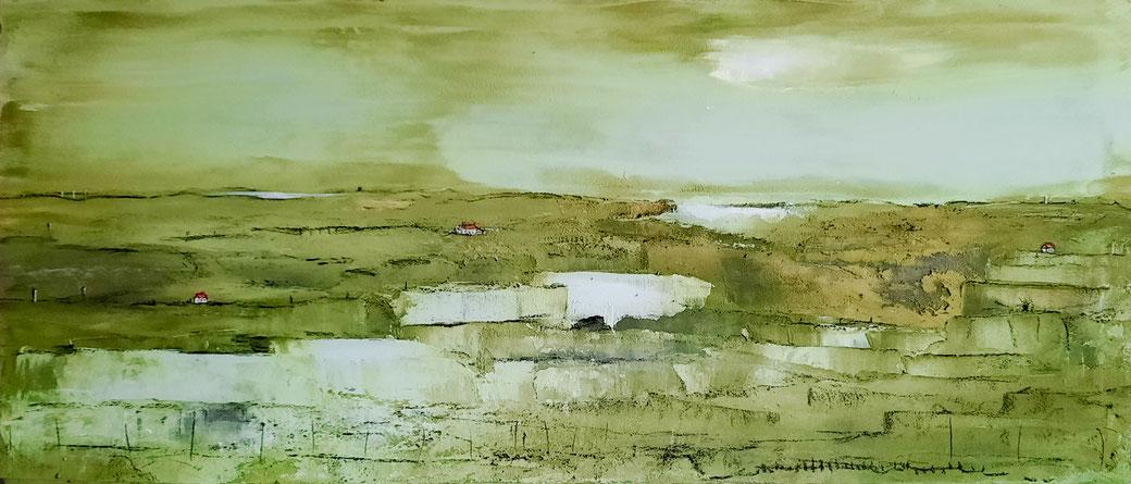Abstraktes grünes Landschaftsbild