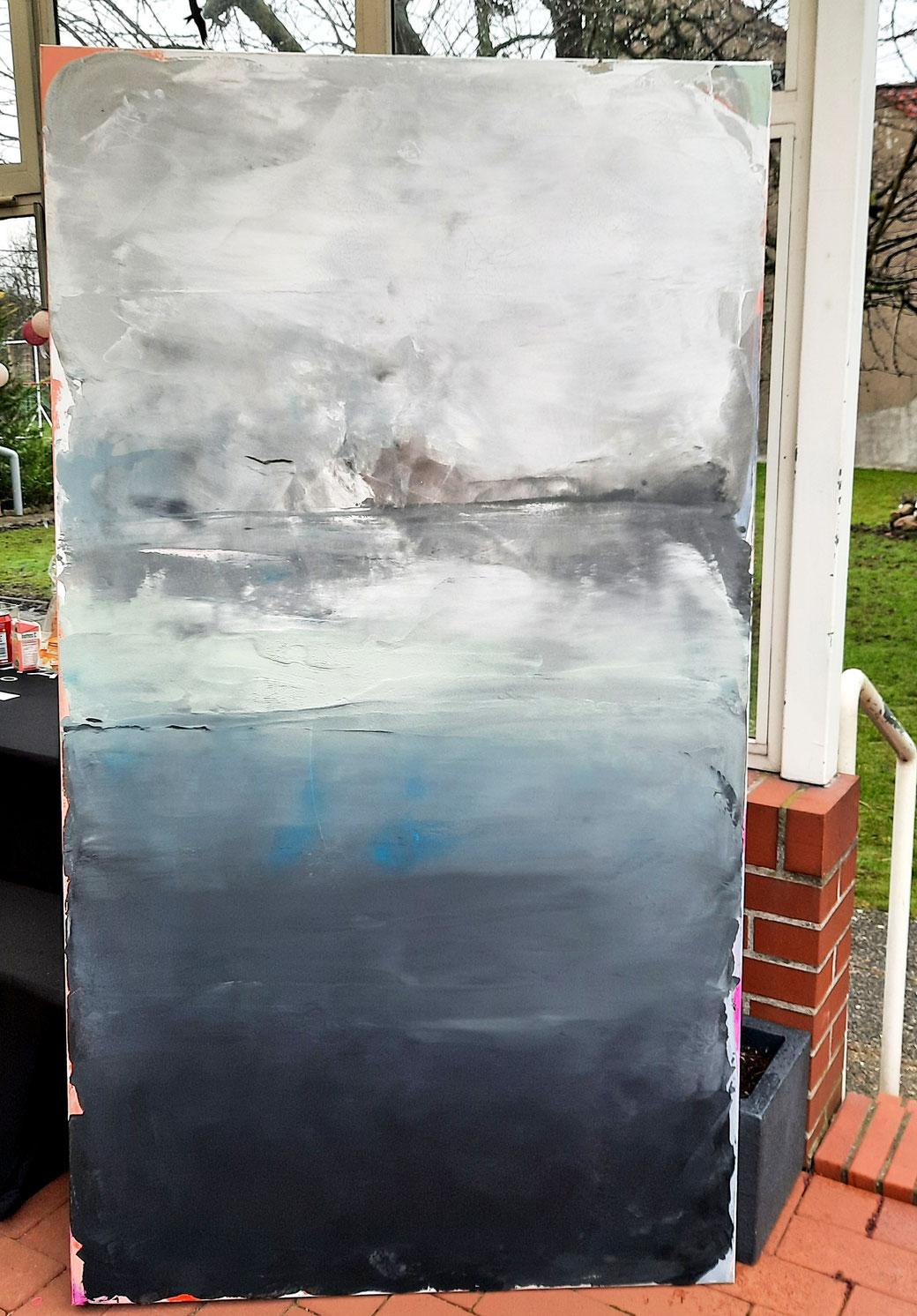 abstraktes modernes Bild 180 x 100 cm  - Titel: 68er