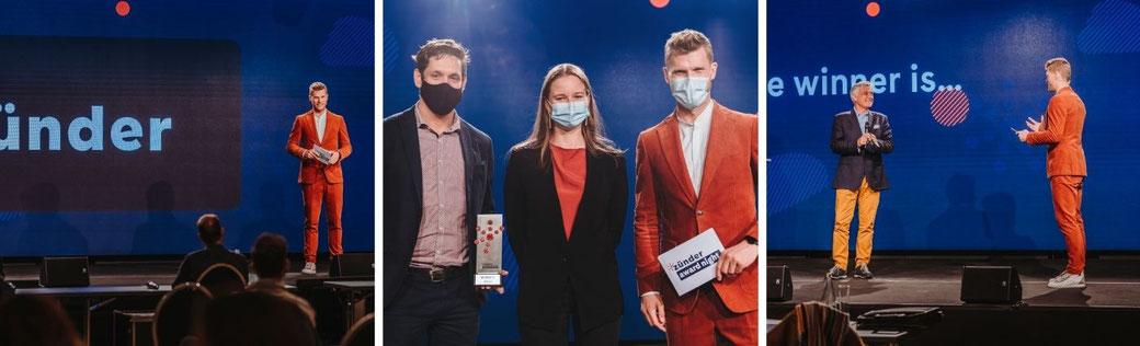 Moderator Thomas Odermatt moderiert die *zünder Award Night 2020