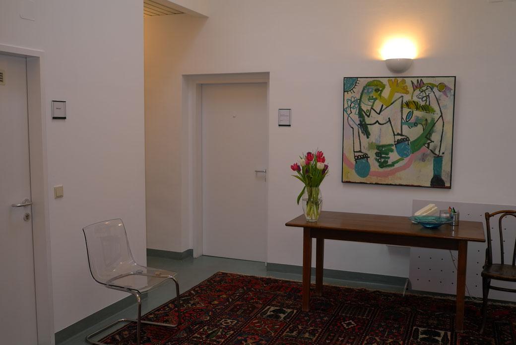Wartezimmer der Psychologischen Praxis in der Hernalser Hauptstraße 15