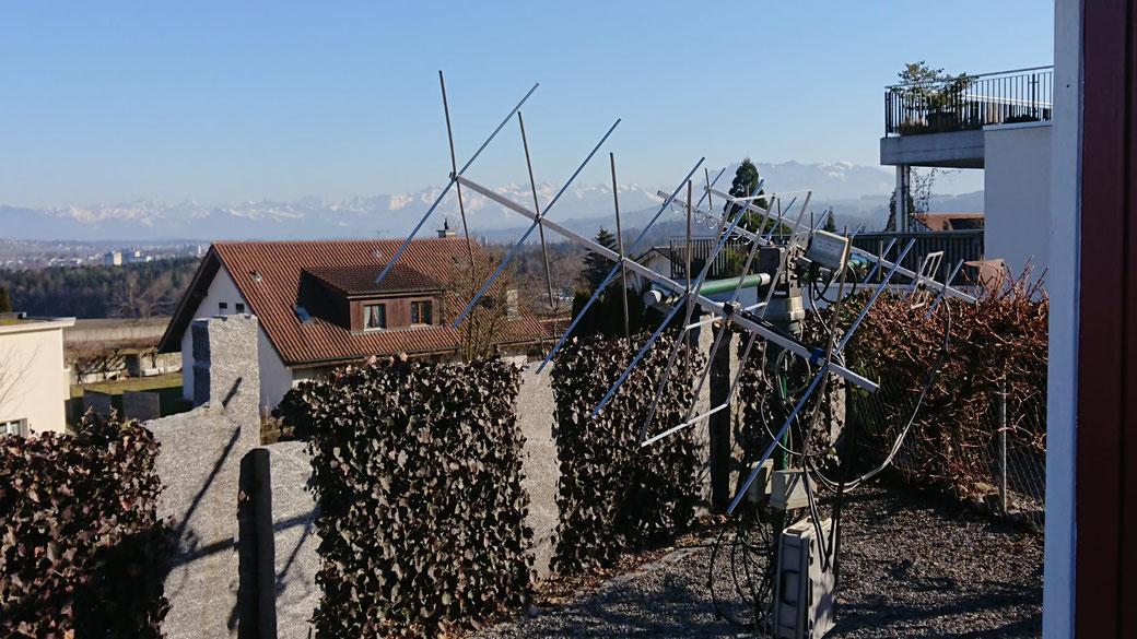Die Antenne nach der Neuinstallation bei wunderbarem frühlingshaften Wetter
