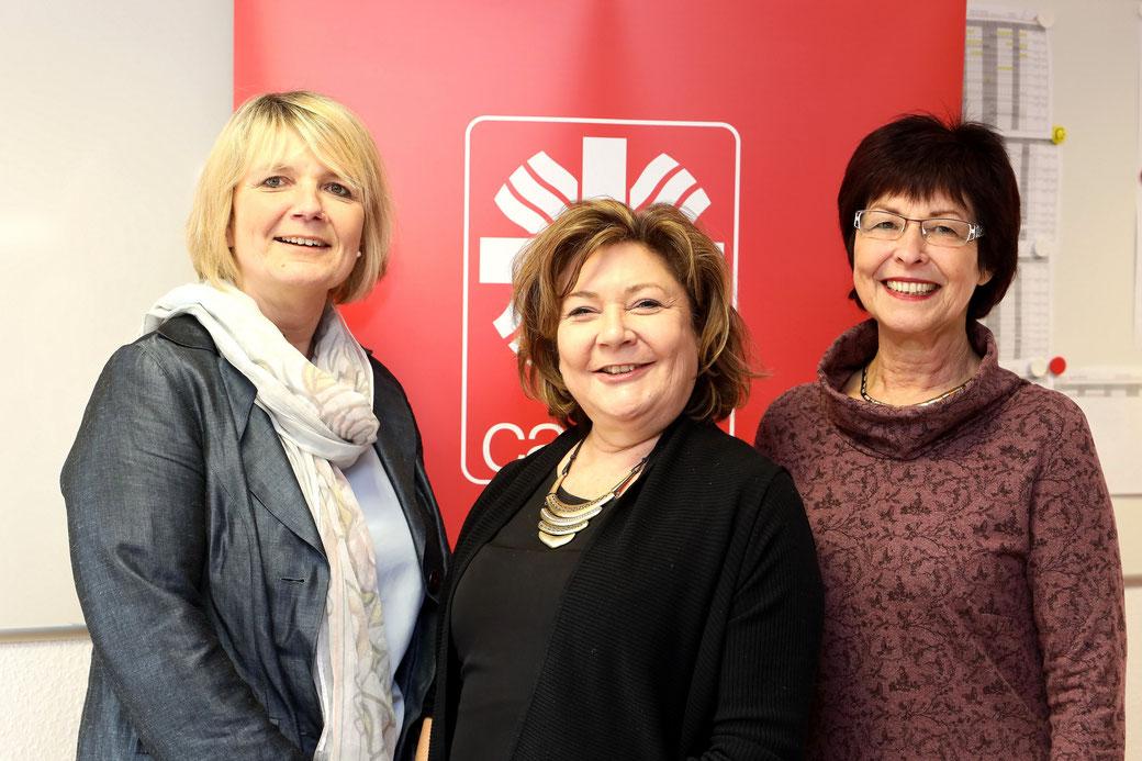 Ingrid Effenberger von der KAG Müttergenesung, Schirmherrin Susanne Laschet und Elisabeth Bungartz, Vorsitzende der KAG Müttergenesung im Erzbistum Köln (v.l.n.r.).