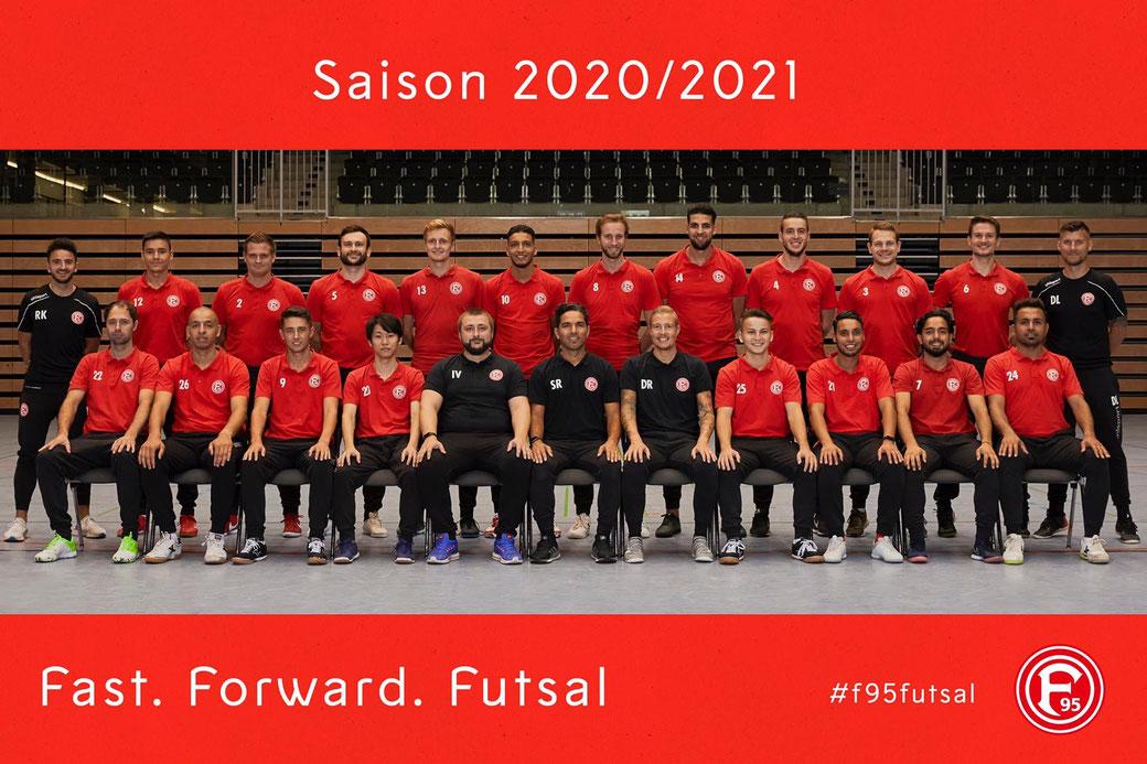 Teamphoto F95 Futsal Saison 2020/21 by Janik Osthöver