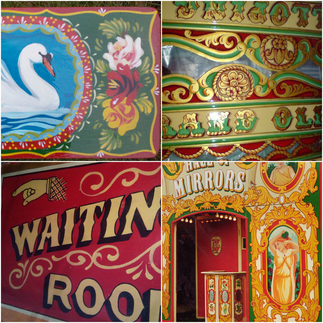 katie morgan, kbmorgan, katie b morgan, illustrator, fairground artist, folk artist, folk art, hall of mirrors, floor cloths,narrowboat art, bargeware, roses and castles,signwriting