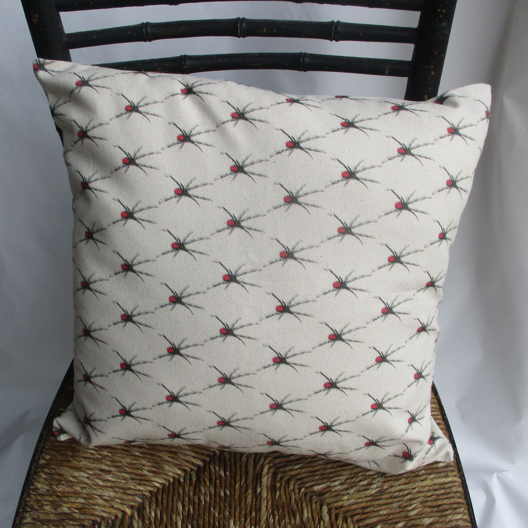 redbacked spider, cushion, organic panama, kbmorgan, wointeriors, the world of interiors