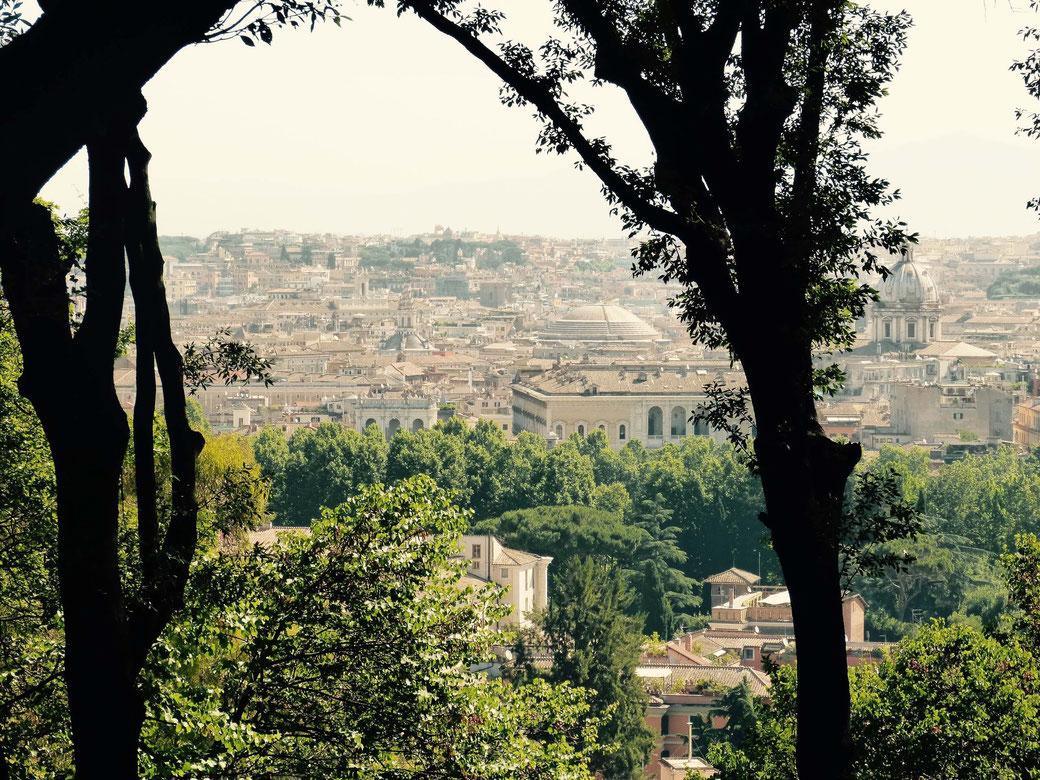 Gianicolo - Wundervoller Ausblick auf Rom - Samt Kuppel des Pantheon.