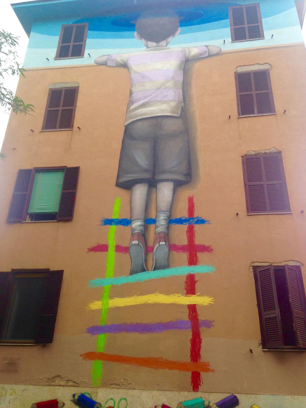 Street-Art in Rom - Die Hauswände in Tor Marancia sind echte Kunstwerke