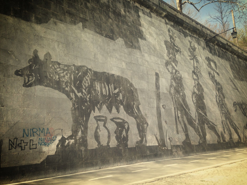 Street-Art am Tiber - Römische Bildergeschichten von William Kentridge
