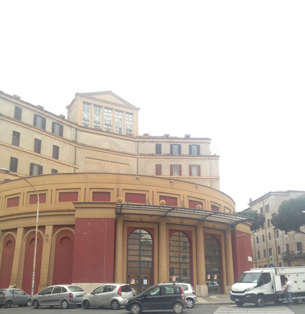 Das Theater Palladium in Garbatella - Hier befindet sich ein Kulturzentrum