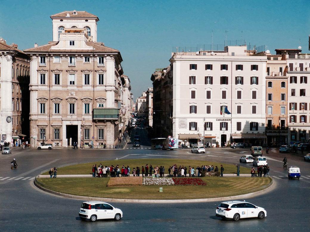Piazza Venezia in Rom - Blick vom Vittoriano aus