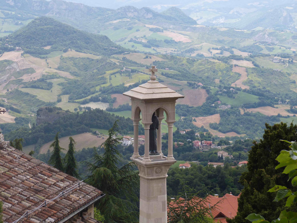 San Marino città - Ausblick ins Landesinnere